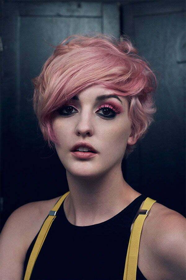 summer pink hair