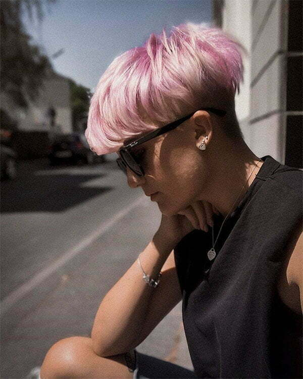 super pink hair