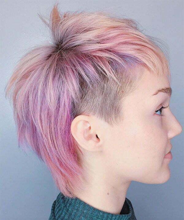super short pink hairstyles