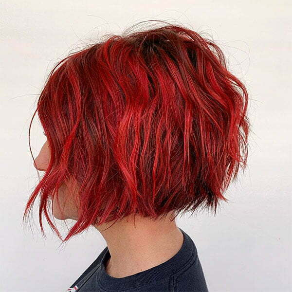 trendy red hair