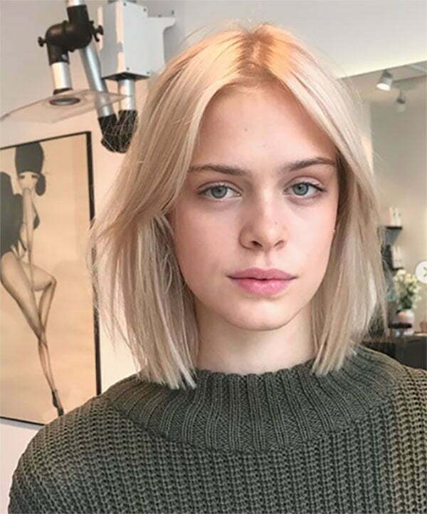 trendy short blonde haircuts