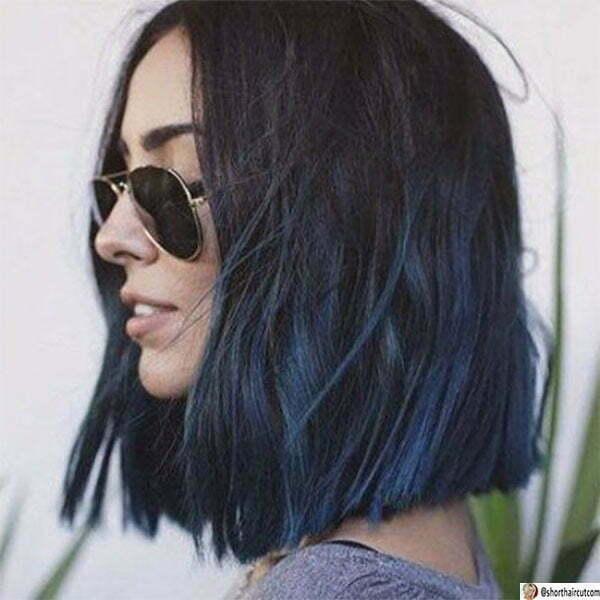 unique blue hair color ideas