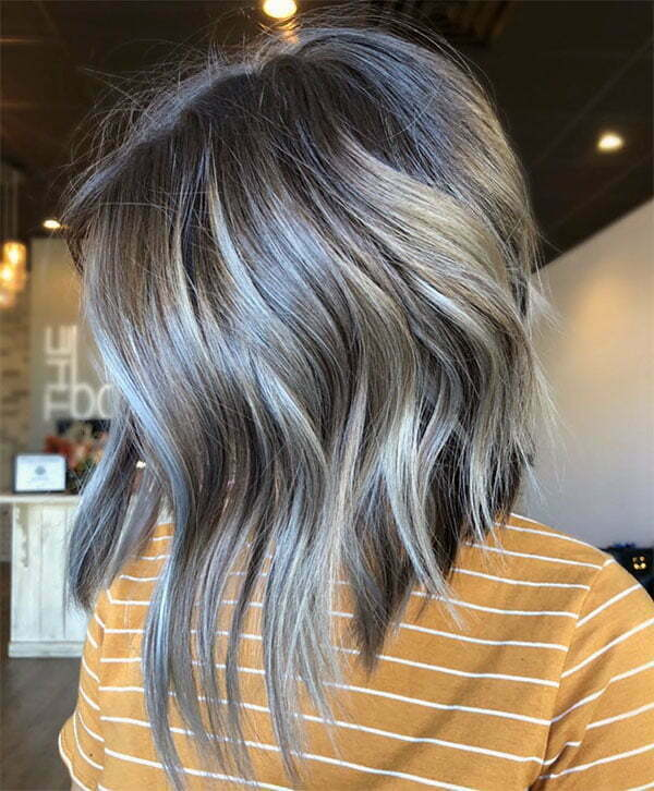 wavy hair look