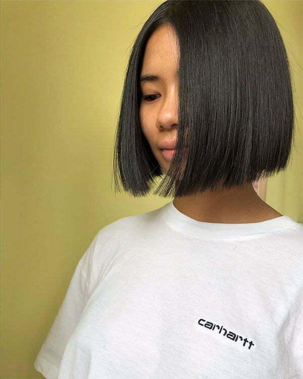 wavy to straight hair