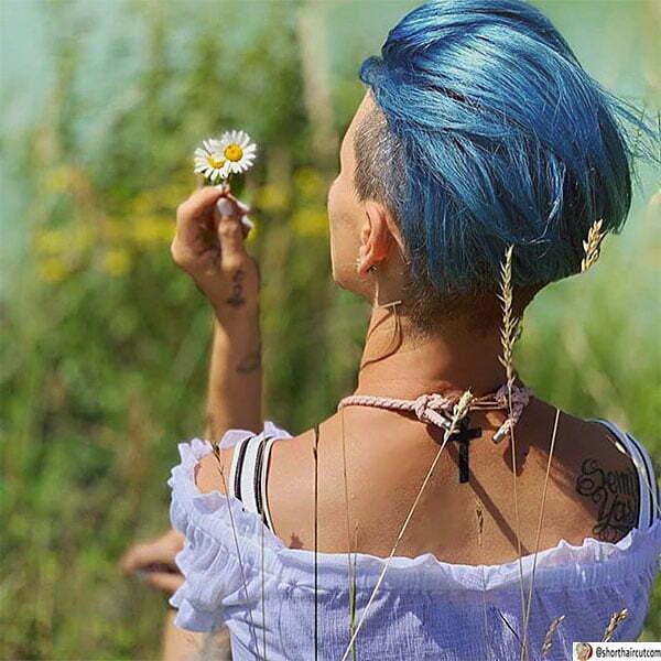 winter blue hair