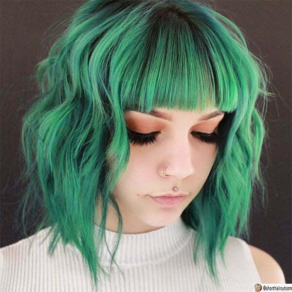 winter green hair