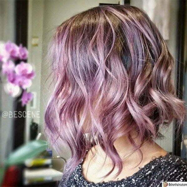 women with purple hair
