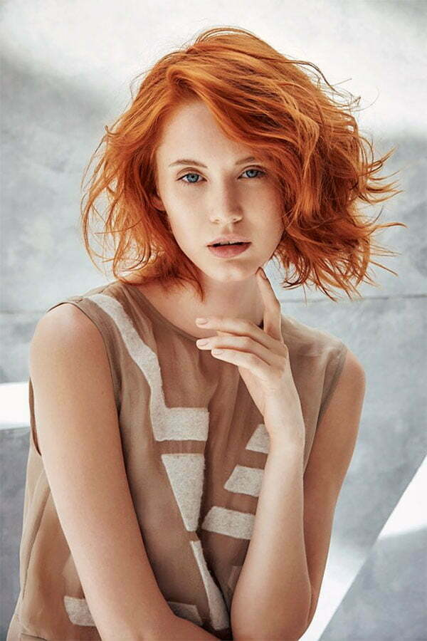 women with short red hair