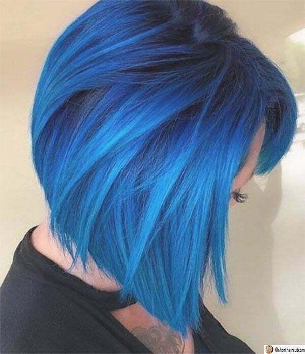women's blue hair color