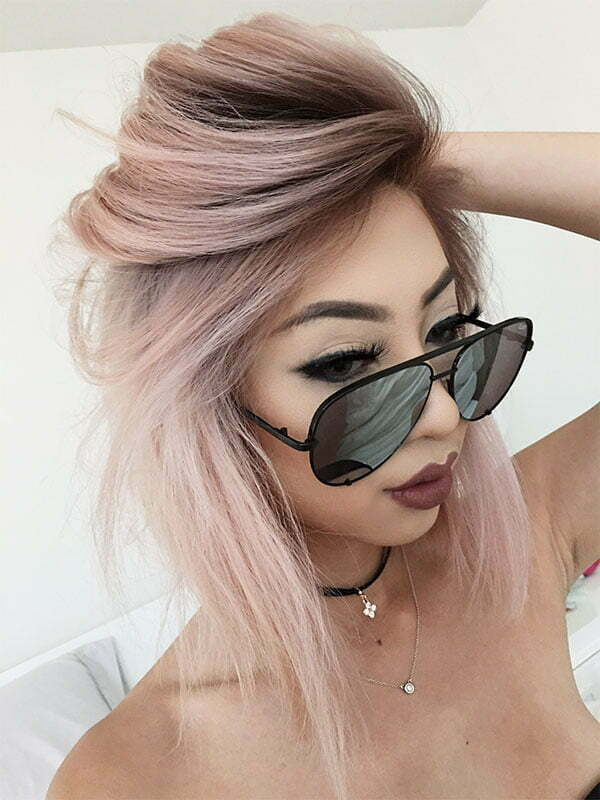 womens short pink hairstyles